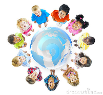 group-children-standing-around-world-map-37447097-med