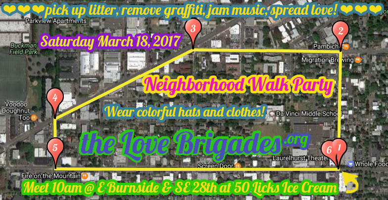 March 18, 2017 Neighborhood Walk Party